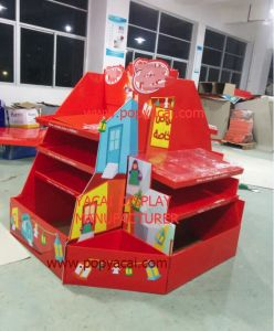 Foldable Customized Supermarket Cardboard Pallet Display for Chocolate, Durable Cardboard Point of Sale Display Stands pictures & photos