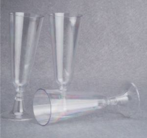 5oz Plastic Champagne Glass in Two Part pictures & photos