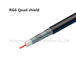 Coaxial Cable RG6 Quad Shield pictures & photos