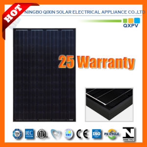 250W 125*125 Black Mono Silicon Solar Module with IEC 61215, IEC 61730 pictures & photos
