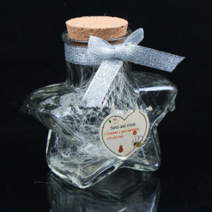 Star-Shape Glass Candy Jar, Glass Wishing Bottle pictures & photos