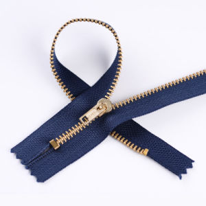 Hot Sales Metal Brass Zipper for Jeans pictures & photos