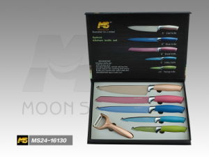 Soft Touch Handle Kitchen Knife Set (MS24-16130I) pictures & photos