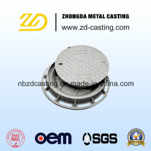 Sand-Casting-Manhole-Covers-with-Lock-and-Hinge pictures & photos