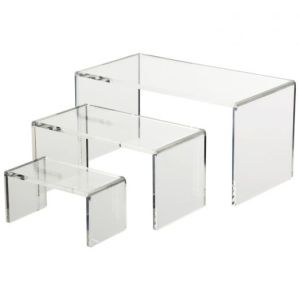 First Hand Factory Clear Acrylic Riser Set for Cosmetic pictures & photos