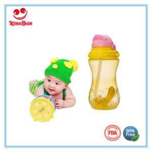 360ml Plasitc Sport Bottle Kids Water Bottle with Straw pictures & photos