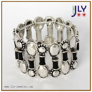 Wholesale Zinc Alloy Antique Silver Fashion Jewelry PU Bracelet/Bangle pictures & photos