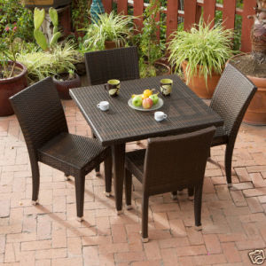 China Rattan Table Chair Garden Table Chair Outdoor Table Chair