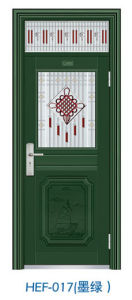 Fluor Carbon Painting Door Stainless Steel Door (HEF-017) pictures & photos
