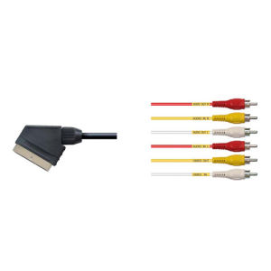 21 Pin Scart Plug to 6RCA Plat Cable pictures & photos