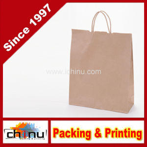 Wholesale Brown Recycled Kraft Paper Shopping Gift Bag (2140) pictures & photos