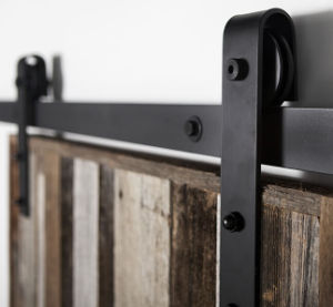 Erias Home Designs Bent Strap Sliding Barn Door Hardware