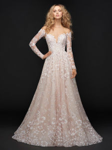 Made in China Pink Noble Wedding Dresses China Supplier Long Sleeve Lace Wedding Dresses pictures & photos