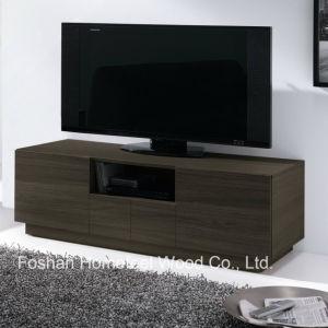 Elegant Melamine Wooden Living Room Storage TV Cabinet (TVS28) pictures & photos