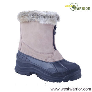 Wool Collar Military Stiched Snow Boots (WSB015) pictures & photos
