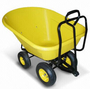 Wheelbarrow with Pb-Free/UV-Resistant Powder Coating