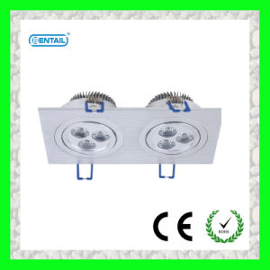 2*3*1W Square High Power LED Downlight (BTCL-61007)
