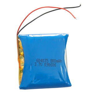 Polymer Li-ion Battery 604035 800mAh 3.7V With PCB and Lead Wire