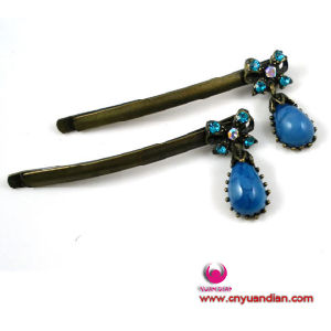 Fashion Blue Stone Antique Style Elegent Hair Pin