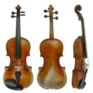 Solid Stradivarius Style European Material High Grade Carved Violin pictures & photos