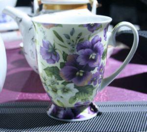 Royal Ceramic Coffee Mugs with Flowers