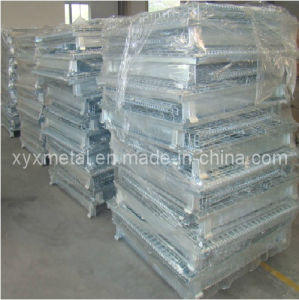 Bulk Material Handling Foldable Stackable Wire Storage Container pictures & photos