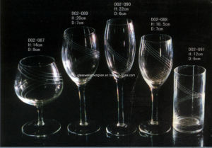 Hand-Made Glass Cup Sets (D02-087, 088, 089, 090, 091) pictures & photos