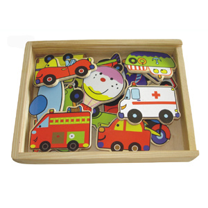 Wooden Magnetic Vehicle Toy (20PCS) (80640) pictures & photos