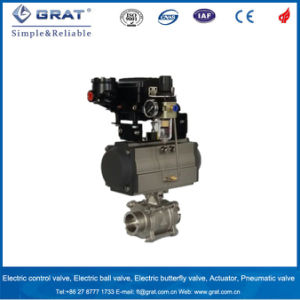 Pneumatic Single Action Sanitary Stainless Steel Ball Valve pictures & photos