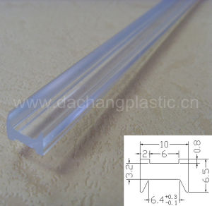 Transparent Plastic Profile for Partition Parts pictures & photos