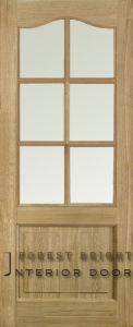 Oak Solid Wood Panel Door (CD-0204)