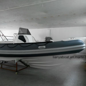 Liya 8.3m 250HP Outboard Motor Boat Fiberglass Hull Inflatable Boat pictures & photos