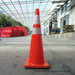 Manufacturer Supplier Factory Molded Base 900mm PVC Traffic Cone pictures & photos