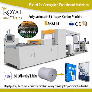 A4 Paper Trimming Machine Raw Material Jumbo Roll Ryqj-D pictures & photos
