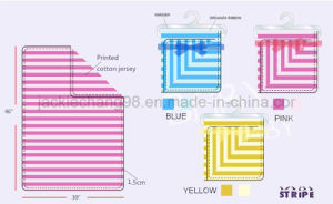 Baby Blanket 100% Cotton Jersey-Stripe Colorway (SFT07BB001) pictures & photos