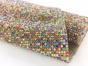 Hot Fix Aluminum Rhinestone Mesh Crystal Base Mesh for Clothing Shoes pictures & photos