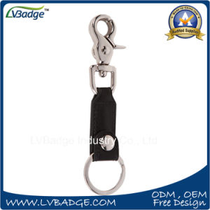 Factory Sell PU Leather Keychain with Key Ring pictures & photos