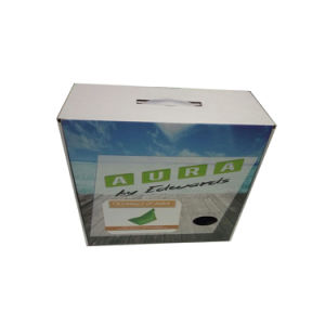 Printed Handle Box Cardboard Box with Plastic Handle Free Design pictures & photos