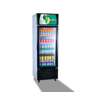 Vertical Beverge Refrigerator Single Glass Door Display Freezer Showcase Cooler pictures & photos