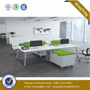 4 Seats Cluster Curved Worksation Partion Office Furniture (HX-NJ5085) pictures & photos