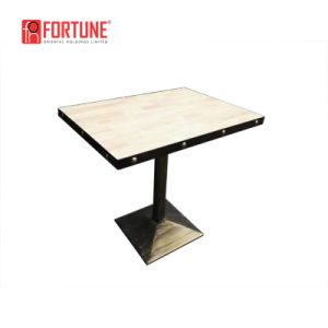 Square Coffee Shop Table with Metal Sealing pictures & photos