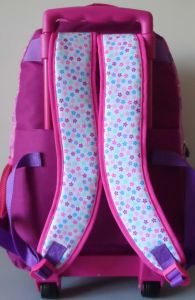 Girl Lovely Wheeled Trolley Back to School Bag Backpack pictures & photos