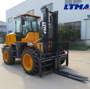 10 Ton Diesel Rough Terrain Forklift Price for Sale pictures & photos