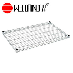 Warehouse Factory NSF 4 Tiers Adjustable Chrome Metal Storage Wire Shelving Rack pictures & photos