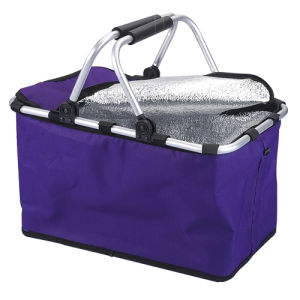 Collapsible Insulated Picnic Basket Thermal Picnic Hamper Cooler Picnic Bag pictures & photos