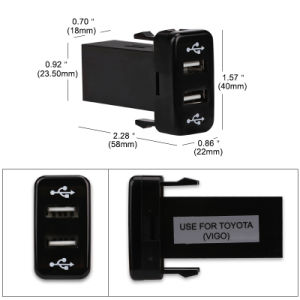 Switch Socket DC 3.1A 12-24V Dual USB Socket Car Charger Power Adapter LED Waterproof for Phone MP3 MP4 USB Digital Device pictures & photos