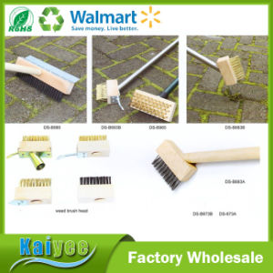 Garden Tools Long Wooden or Stainless Steel Handle Weed Brush pictures & photos