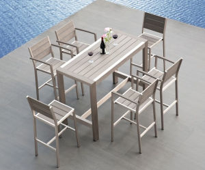 Outdoor Furniture Aluminum Polywood Dining Set (PWC-352) pictures & photos