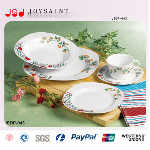 New Design Customized Colored Decal Dinner Set pictures & photos