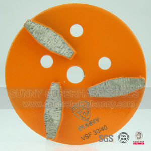 "4"" Diamond Concrete Floor Grinding Plate pictures & photos"